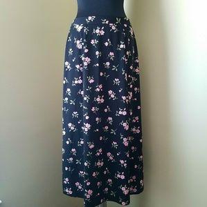 ♥️Pink Floral Maxi Skirt, Medium